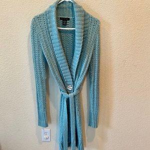 Aqua Knit Long Sweater